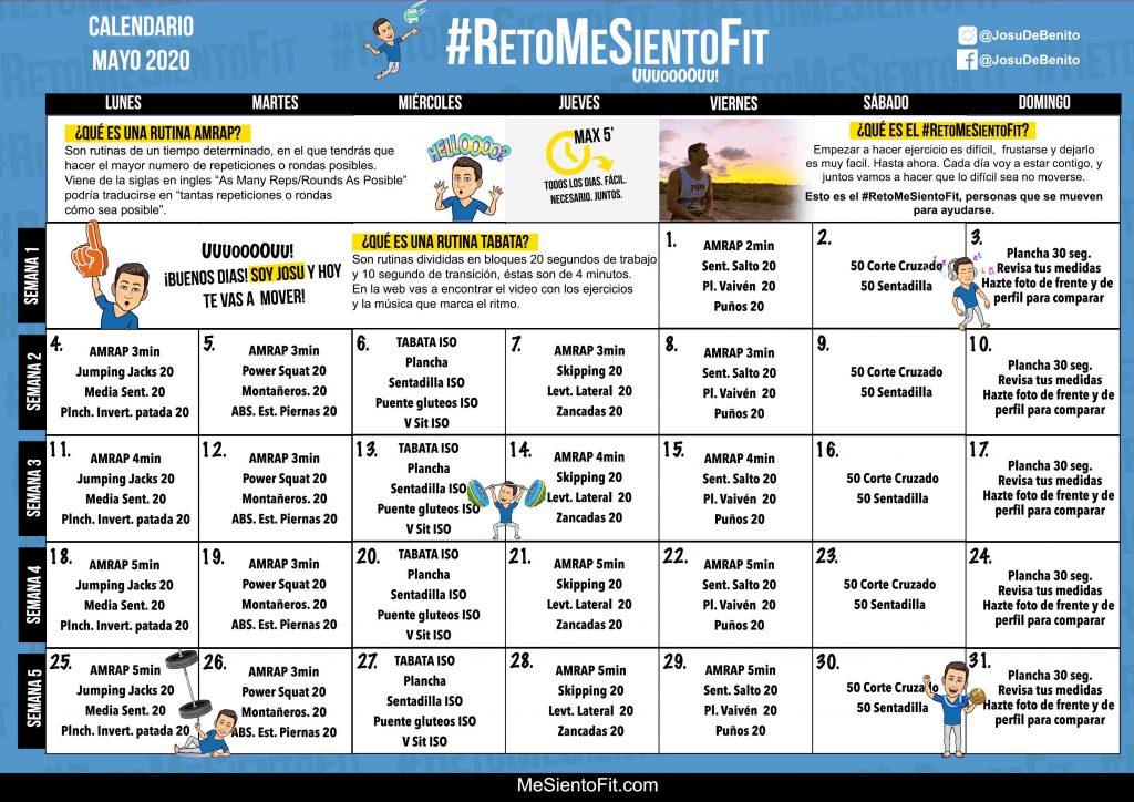 Imagen Descarga calendario 2020 05 Mayo #RetoMeSientoFit