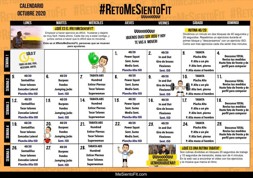 Octubre-2020-RETO-calnedario de ejercicios gratis