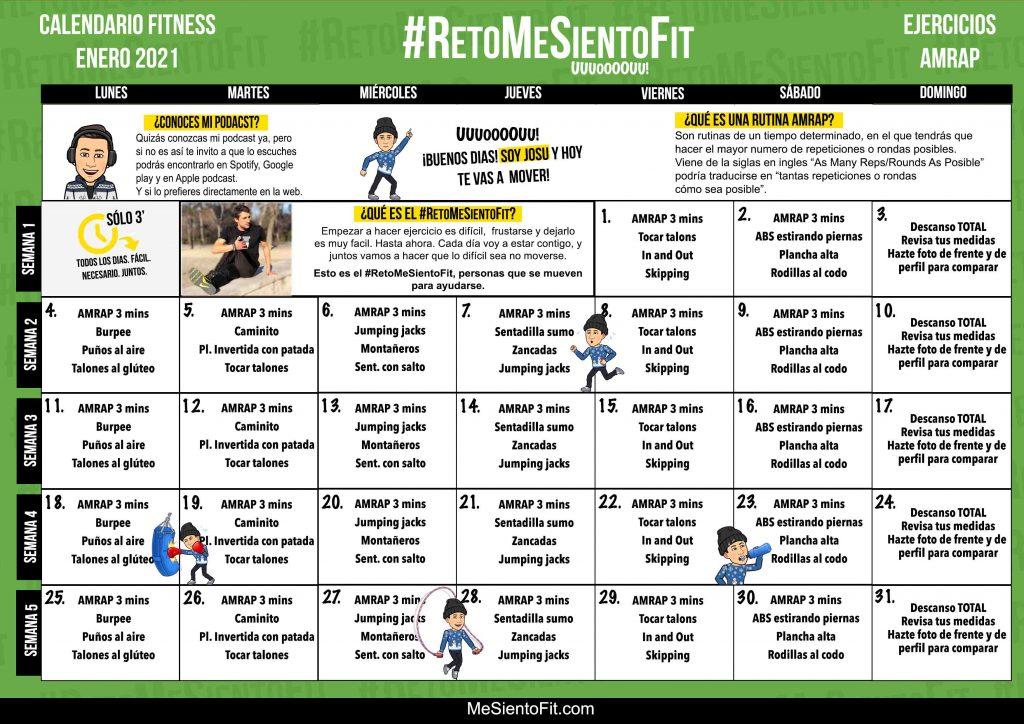 Enero-2021-RETO me siento fit - Calendario fitness enero 2021