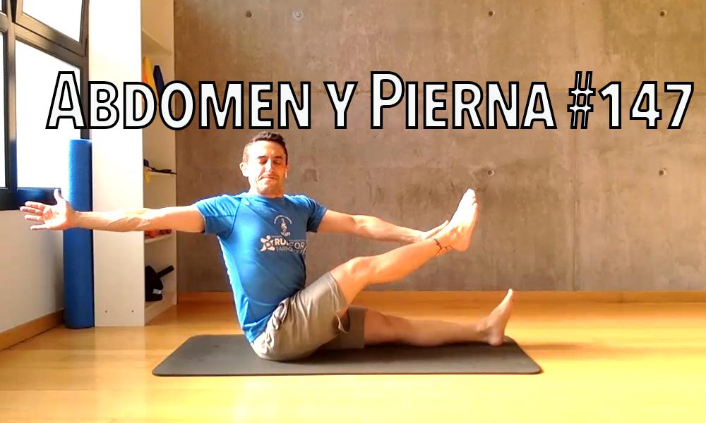 pilates abdomen y pierna 147